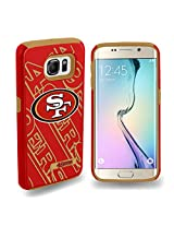 Forever Collectibles - Licensed NFL Cell Phone Case for Samsung Galaxy S6 Edge - Retail Packaging - San Francisco 49ers