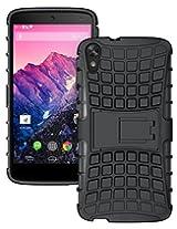 Pudini Hybrid Kickstand Armor Case Cover For HTC Desire 828 - Black