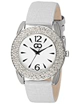 Gio Collection Analog White Dial Women's Watch - G0053-02
