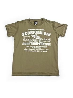 Scorpion Bay Camiseta Estampada (Verde Militar)