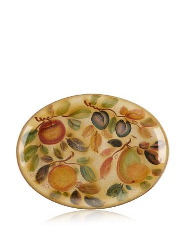 Modigliani Frutta Laccata Oval Serving Platter, 17