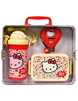 Hello Kitty Water Bottle,Lunch Box and Coin Box Set
