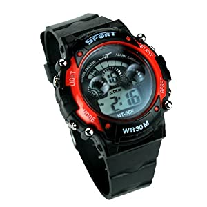 Gasan WR30M Sports Wrist Watch-Red