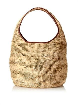 Florabella Women's Ciutadella Crochet Raffia Handbag (Natural)