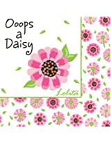 Lolita by CR Gibson Paper Cocktail Napkins, Package of 20, Ooops-a-Daisy