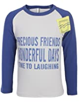 Babyhug Ralgon Sleeves Dual Color T Shirt