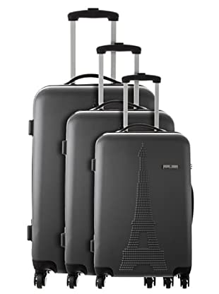Platinium 3er Set Trolley 4 Rollen Paris (Grau)