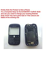 Replacement HIGH QUALITY FULL BODY HOUSING PANEL FACEPLATE FASCIA for BLACKBERRY CURVE 9220 Black