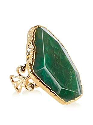 Charlene K Agate Emerald Quartz Ring