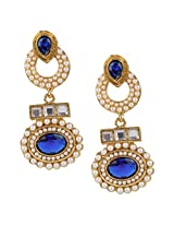 Ethnic Indian Bollywood Jewelry Set Traditional Fashion Pearl EarringsISREA033BL
