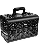 Shany Diamond Collection Premium Makeup Train Case In Black