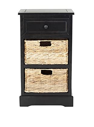 Safavieh Carrie Storage Side Table, Distressed Black