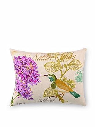 "Kathryn White Nature Study No. 2 Pillow, Gold/Purple, 14"" x 18"""