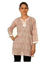 Sai Ruchi Women's Pink / Ivory Kurti - Large/40
