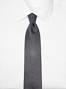 Nina Ricci Men's Centralized Flower Tie, Black