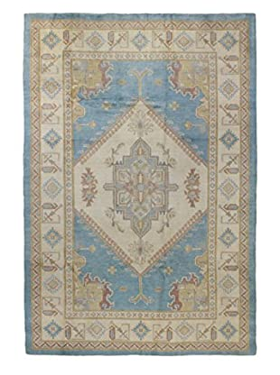 Bashian Rugs Pak Kazak Rug, Light Blue, 6' x 9'