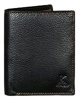 K London Black & Tan Bifold Leather Men's Wallet-201_blktan