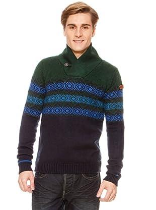 SideCar Pullover Norweger-Muster (Blau)
