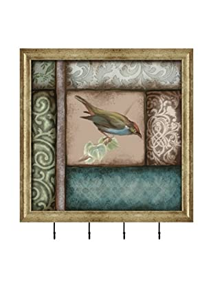 PTM Images Square Birds Key/Jewelry Organizer, Gold