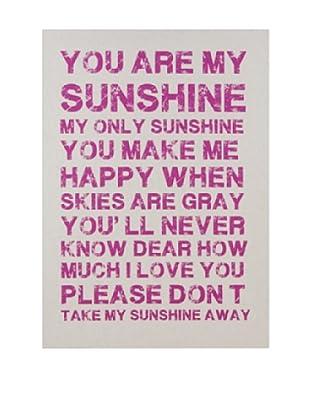 Lienzos Decoración Vertical You Are My Sunshine