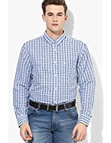 Blue Checked Casual Shirt Izod