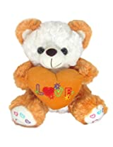 Tickles Brown I Love You Heart Teddy Stuffed Soft Plush Toy18 cm