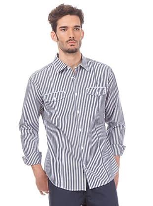 Esprit Camisa Rayas (Blanco / Marino)
