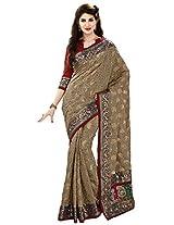 Aadarshini Women's Brasso & Net Saree (110000000059)