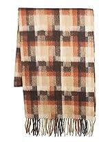 Dahlia Men's Wool Blend Scarf - Mosaic Square - Tan