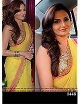 Fabboom Guman Yellow Georgette Bollywood Replica Saree