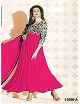 Sushmita Sen In Colourful Pink Anarkali Suit