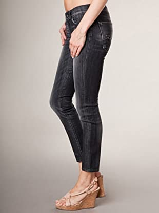 7 for all Mankind Gwenevere Hamm Stu Euphorbie Skinny Fit (Schwarz Denim)