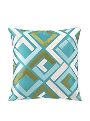 Trina Turk Avenida Maze Embroidered Pillow, Blue, 20