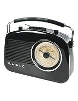 Retro design AM/FM radio black