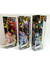 Deluxe Collectable Monster High Geek Shriek Dolls! Set Of Three.