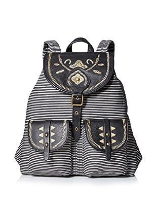 Isabella Fiore Women's El Paso Backpack, Black Stripe