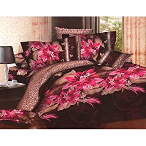 Homefab Beautiful 3 D Printed Double Bed-Sheet With 2 Pillow Covers (Code: Dreams 044)