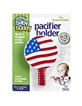 Baby Buddy American Baby Pacifier Holder. Styles may vary from US Flag, I Love USA, God Bless America