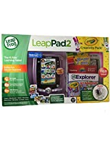 Leap Frog Leap Pad 2 Crayola Creativity Pack Bundle Pink! Includes Leap Frog Leap Pad2 Learning Tablet With 4 Gb Memory Plus Exclusive Bonus Crayola Accessories!
