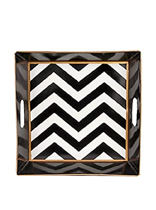 Jayes Chevron Black Bedside Tray