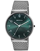 Skagen End-of-Season Ancher Analog Green Dial Men's Watch - SKW6184