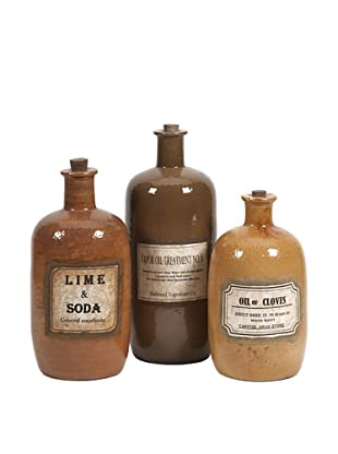 Set of 3 Easton Decorative Medicine Bottles
