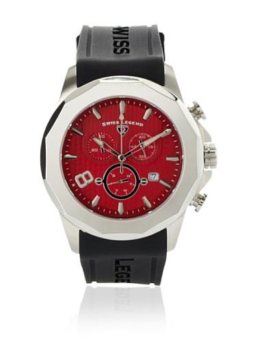 Swiss Legend Men's Monte Carlo Black/Red Textured Silicone Watch