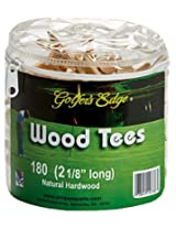 Unique Golf Wood Tees with Pouch (180 Pack)