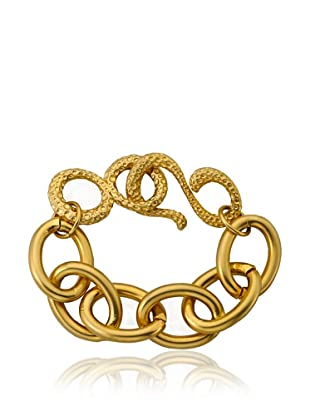 Riccova Golden Satin Heavy Link Chain Bracelet