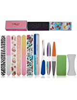 SHANY Cosmetics Assorted Nail Buffer Files Blocks Cute Styles, 15 Count