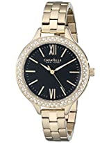 Bulova Analog Black Dial Women's Watch - 44L126