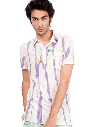 Custo T-Shirt (creme/violett)