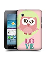 Head Case Designs Pink Love Kawaii Owl Hard Back Case Cover For Samsung Galaxy Tab 2 7.0 P3100 P3110