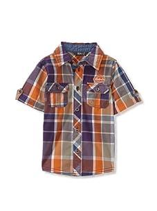 KANZ Boy's Short Sleeve Shirt (Plaid)